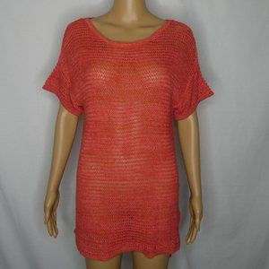 Two by Vince Camuto Semi Sheer Crocheted Sweater S